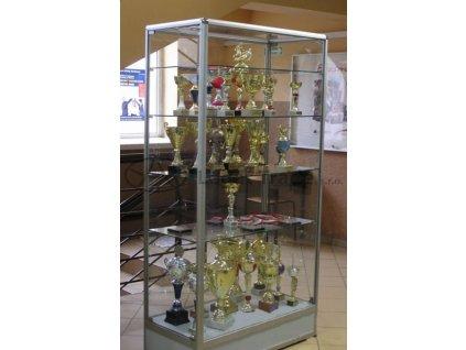 Prezentační vitrína bez horního soklu - standardní sklo