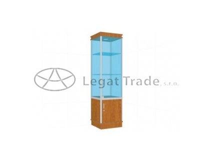 Prosklená vitrína G1AM 500x1800x500mm