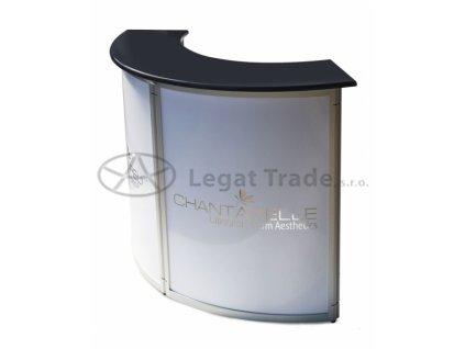 Prezentační stolek LAAR – ve tvaru oblouku