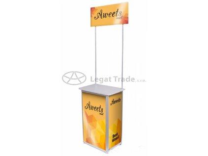 Degustační a reklamní promostolek s horním panelem  60 x 40 x 90cm