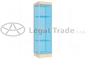 Prosklená vitrína G1AS 500x1800x500mm Název: S osvětlením