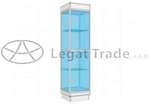 Prosklená vitrína G1S 500x1800x500mm Název: S osvětlením