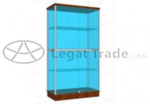 Prosklená vitrína G2BS 1000x1800x500mm Název: Bez osvětlení