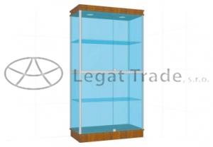 Prosklená vitrína G2AS 1000x1800x500mm Název: S osvětlením