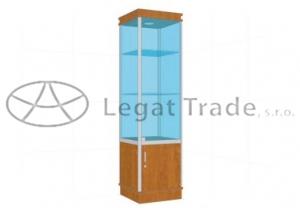 Prosklená vitrína G1AM 500x1800x500mm Název: S osvětlením
