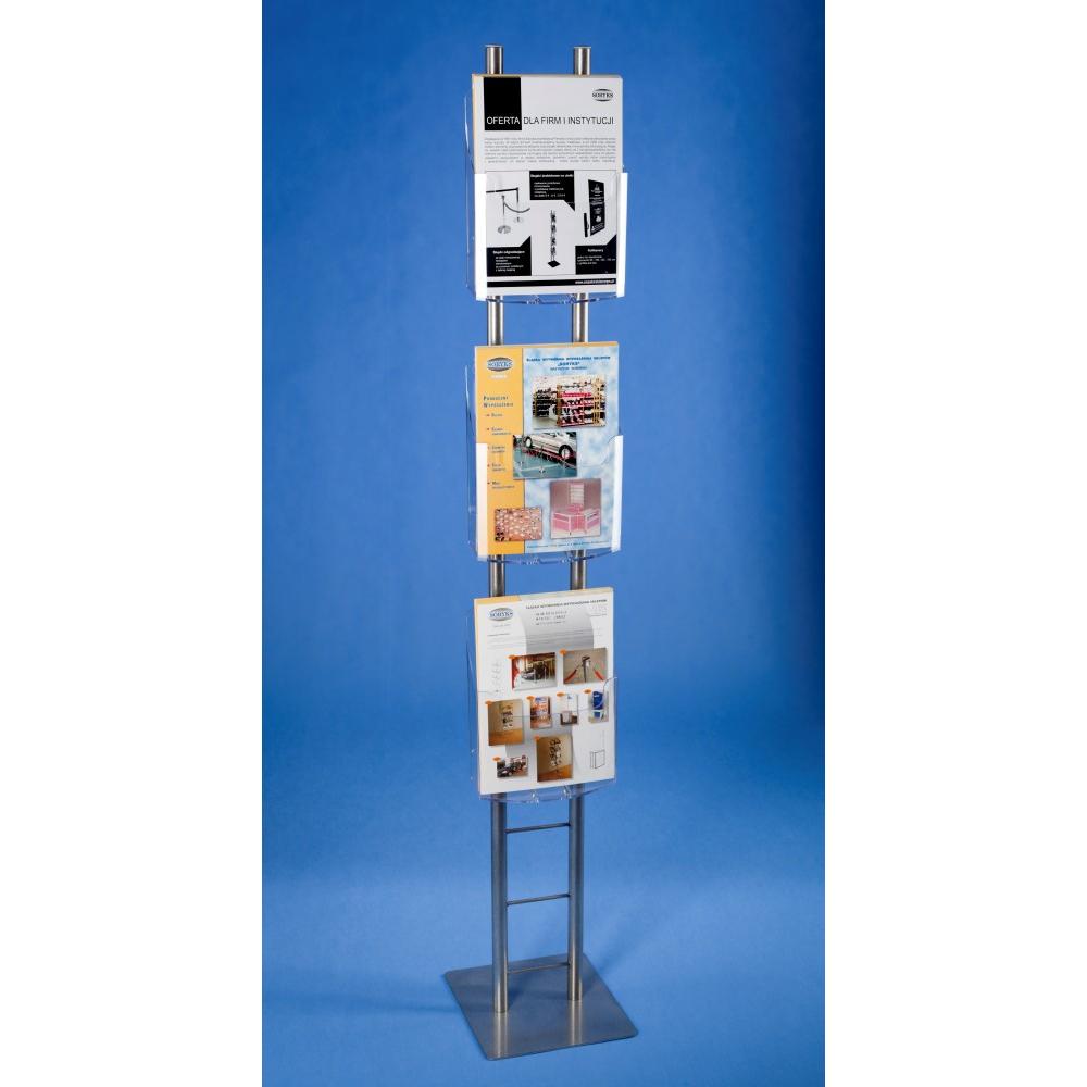 EXPOINT Reklamní stojan na letáky s plexi kapsami A4 nebo A5 Název: Obsahuje 3 kapsy formátu A5