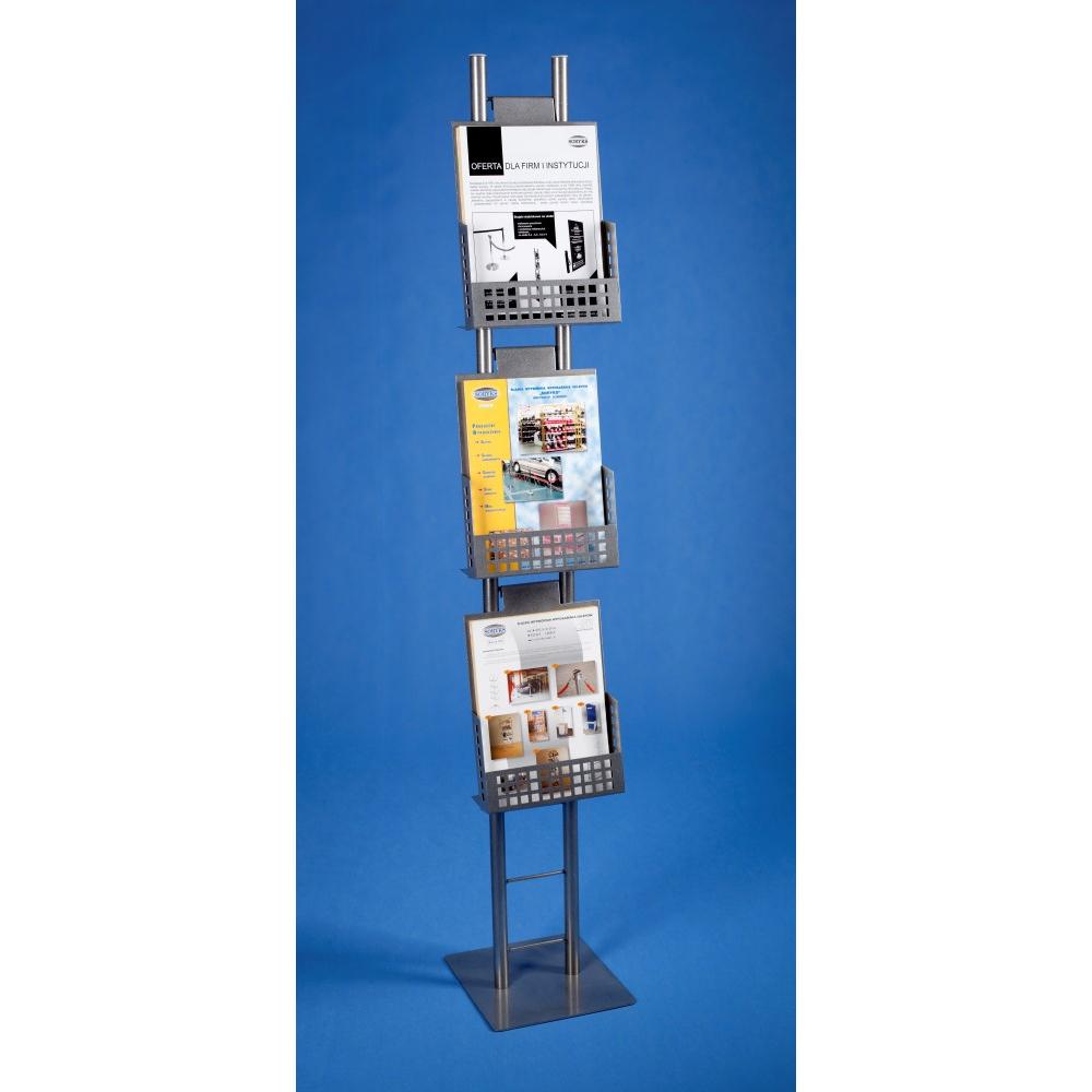 EXPOINT Reklamní stojan s kovovými kapsami A4