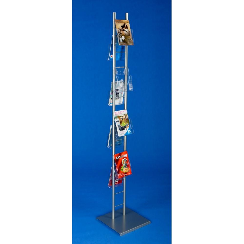 EXPOINT Reklamní stojan na letáky 5-10 kapes Název: Obsahuje 8 kapes formátu A5, oboustranný