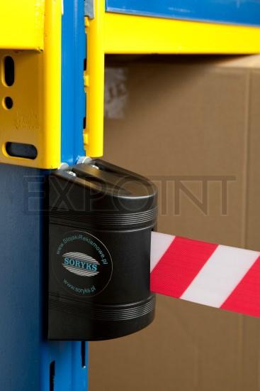EXPOINT Nástěnná kazeta s páskou 2 m a brzdou, černá