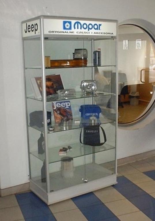 Prosklená vitrína G2PRUH 1000x1800x500mm Název: S osvětlením