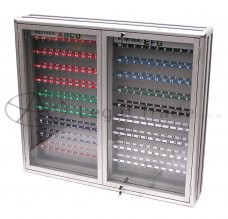 Skříňka na klíče dvojitá Název: 130 cm x 80 cm - pro 200 ks klíčů