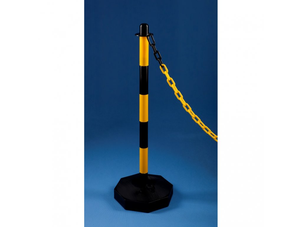 Plastový stĺpik čiernožltý
