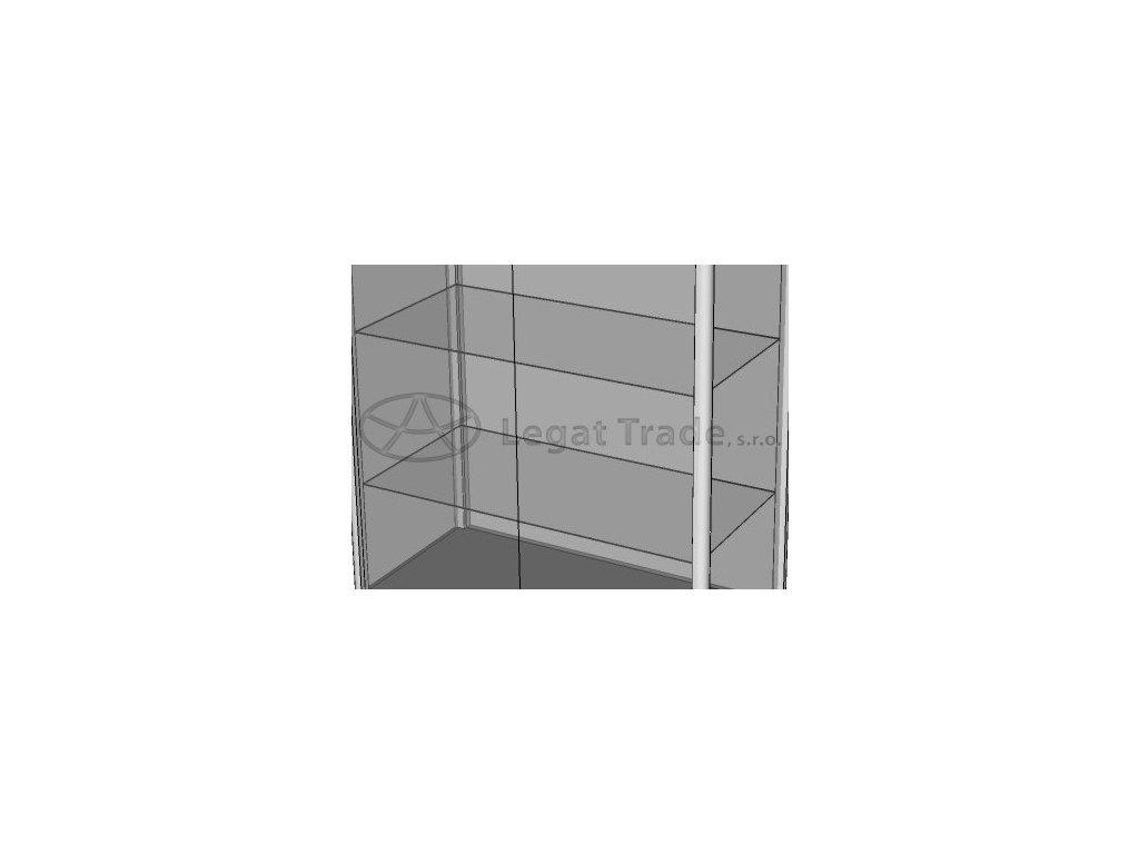 Police zo štandardného skla do vitrín typu BIPO
