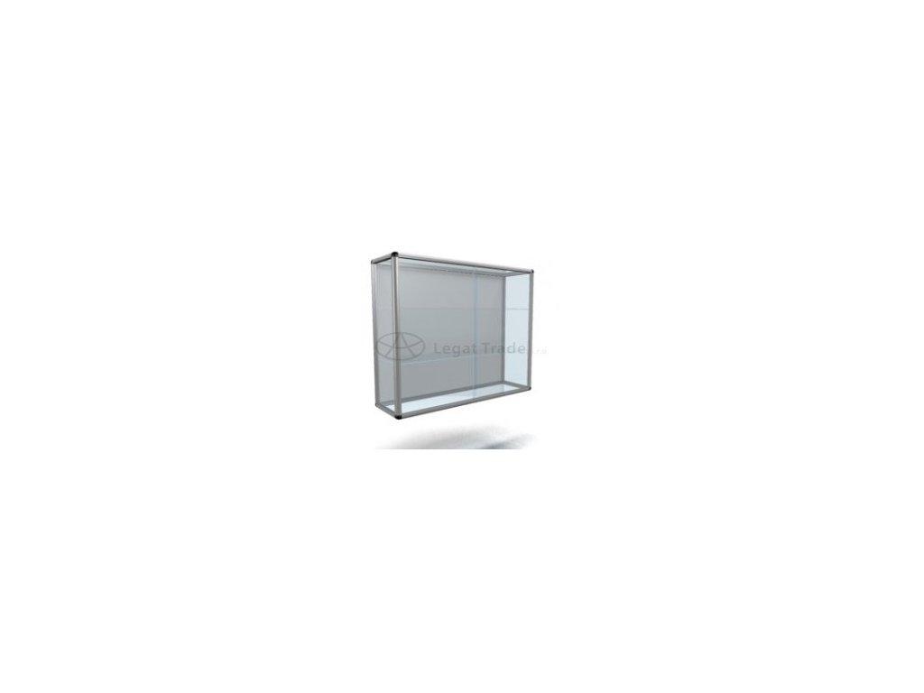 Závesná presklená vitrína na zboží s posuvnými dvierky - štandardné sklo
