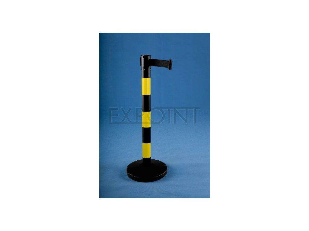 Vymedzovací stĺpik s pásom 2,7m