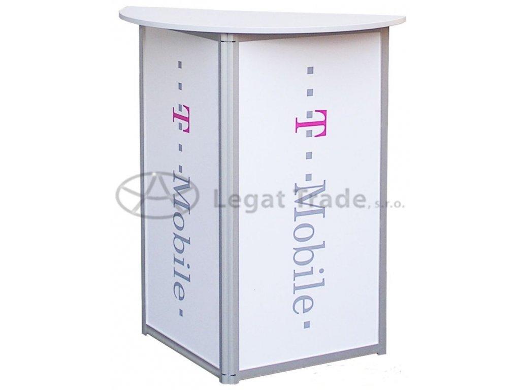 LAEPL Stabilný vyšší promo stolík jednoduchého tvaru.