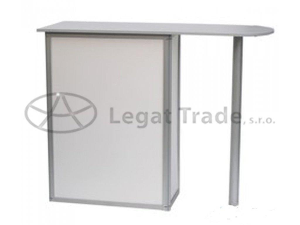 LALEG Prezentačný stolík s predlženou hornou doskou a podperou
