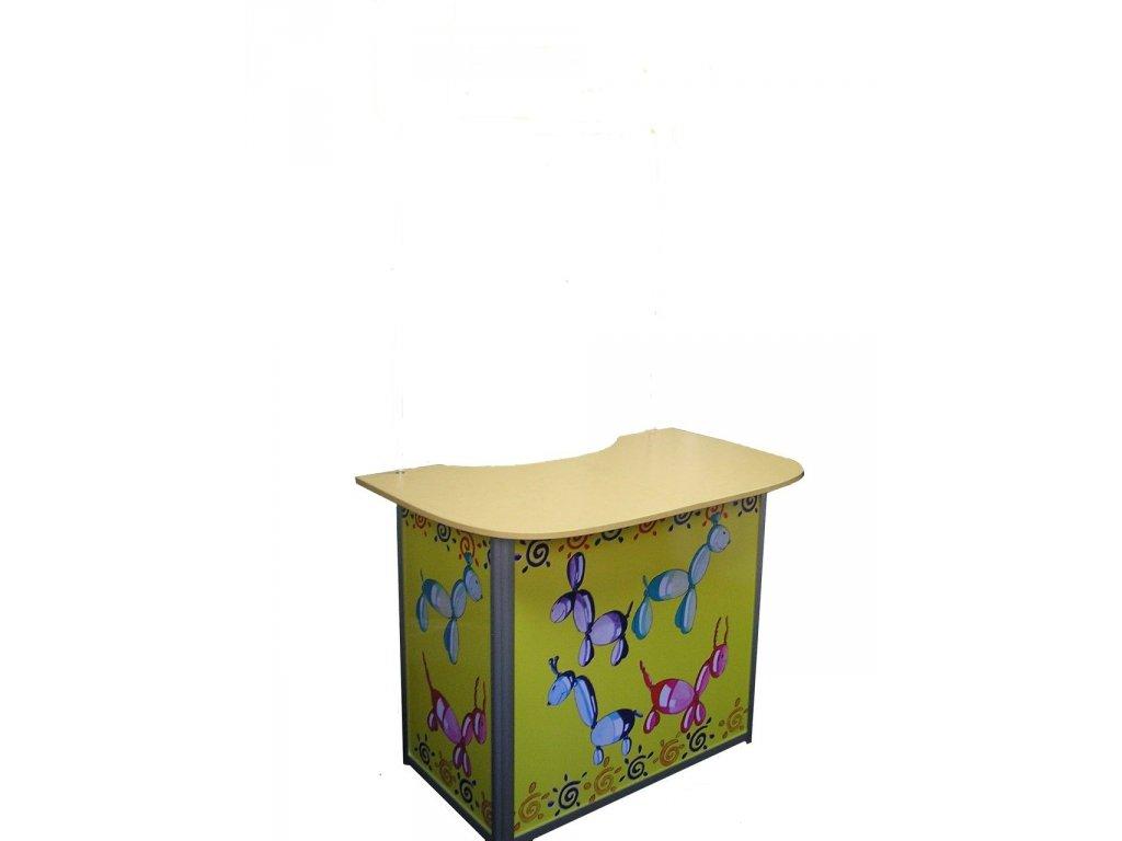 LAESE Vysoký promo stolík s veľkou výstavnou plochou