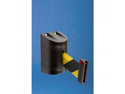 Nástenná kazeta s páskou o dĺžke 2m a brzdou, čierna