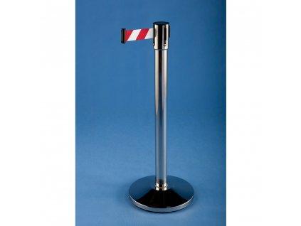 Zahradzovací stĺpik so samonavíjacím pásom 4,5m NEREZ