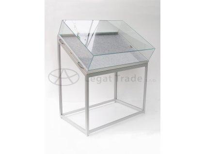 Výstavná vitrína stolová s šikmou kopulou