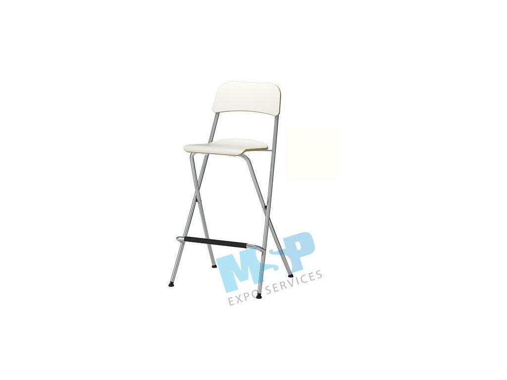barová židle bílá
