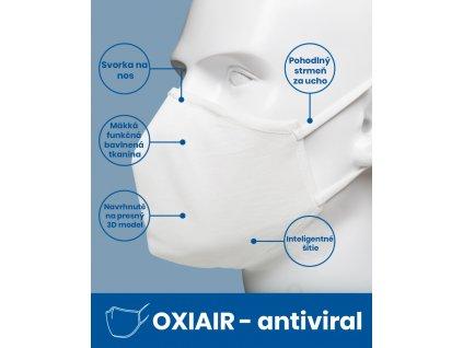 Ochranná maska OXIAIR - ANTIVIRAL