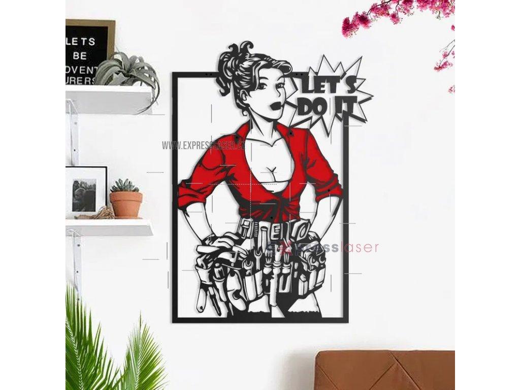 Screenshot 2021 05 19 Let's Do It Repair Woman Metal wall art Dezin info
