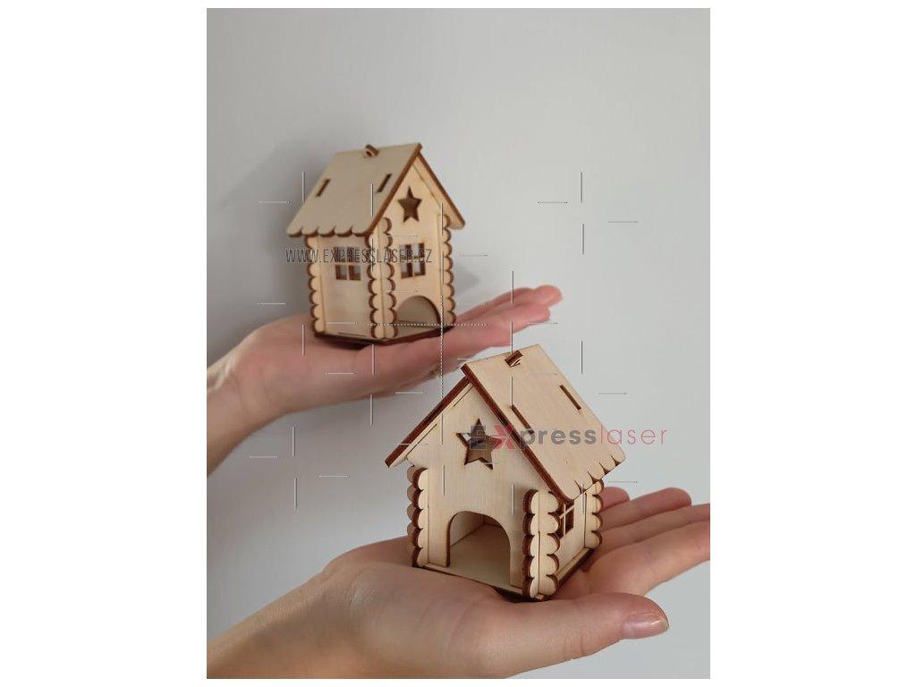 Skládací dřevěný domeček