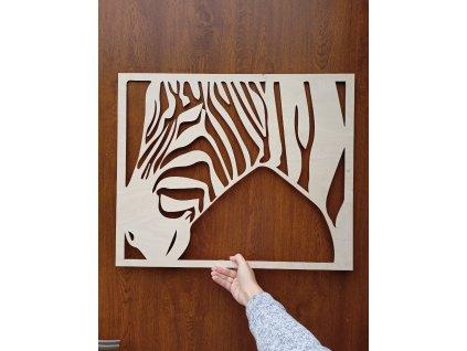 Dřevěný obraz - dekorace Zebra
