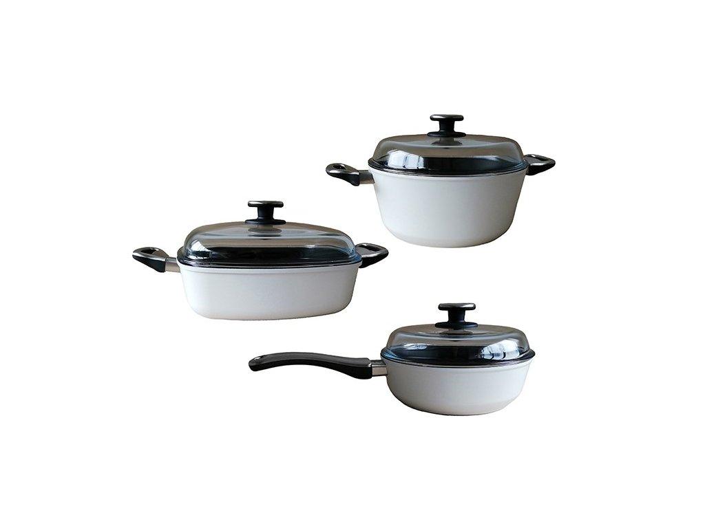 3dílná sada titanového nádobí WL 247+281+288