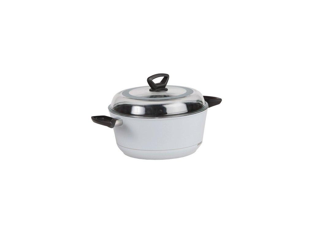 Polévkový hrnec PROTITAN design by PININFARINA, 6,3l, titanový, stříbrný - indukční