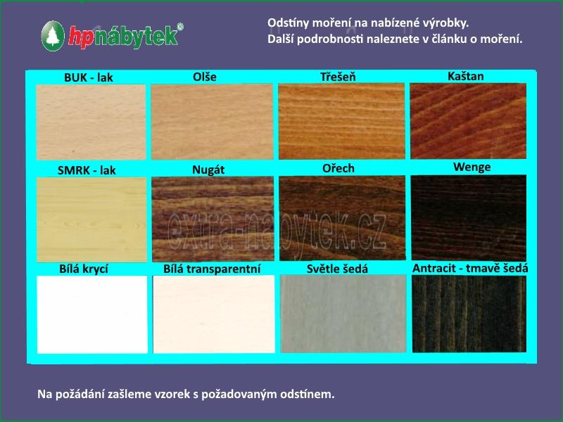 Mořené dřevěné výrobky