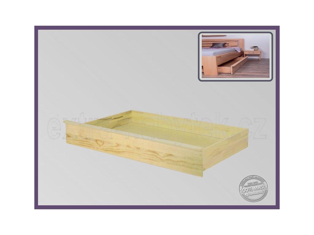 Úložný prostor Tříčtvrteční -3/4 056 SMRK  Úložné prostory pod postel vhodné pro kombinaci se stolkem