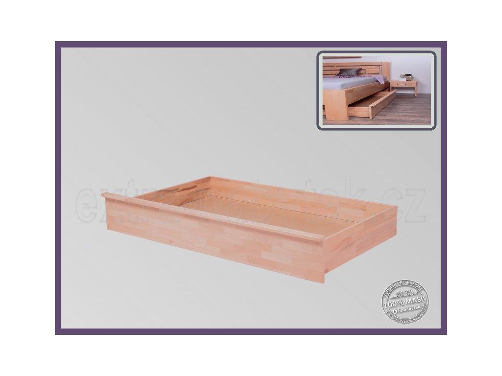 Úložný prostor Tříčtvrteční -3/4 056 BUK  Úložný prostor pod postele vhodný pro kombinaci se stolkem