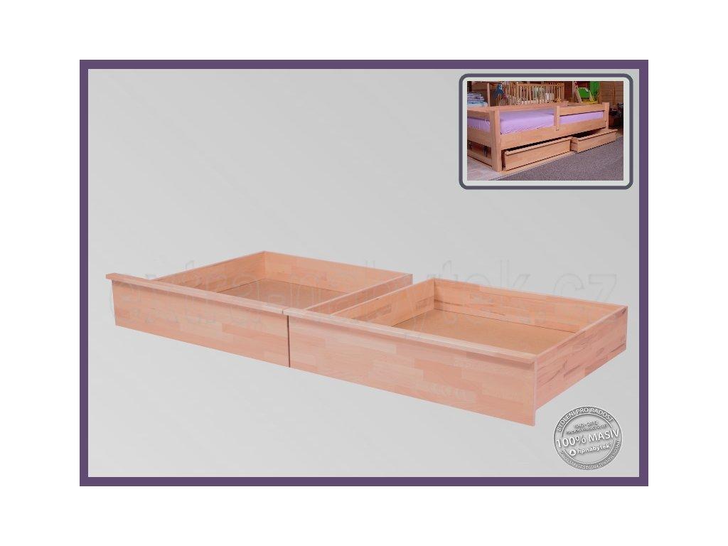 Úložný prostor 1/2 Půlený-pár 057 BUK  Půlený úložný prostor pod celé lůžko