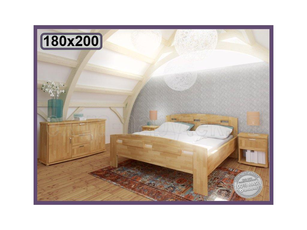 Postel Megan supra 162 BUK  Manželská vysoká postel s obloukem