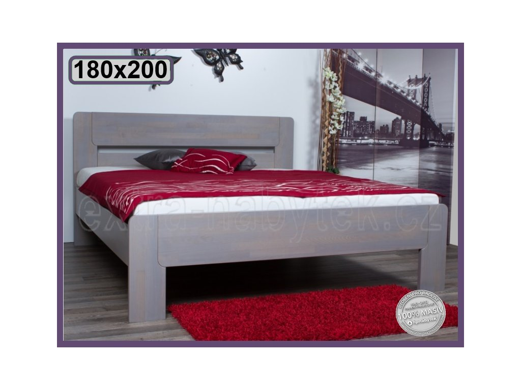 Postel Roma 167 BUK  Dvoulůžková postel ze dřeva