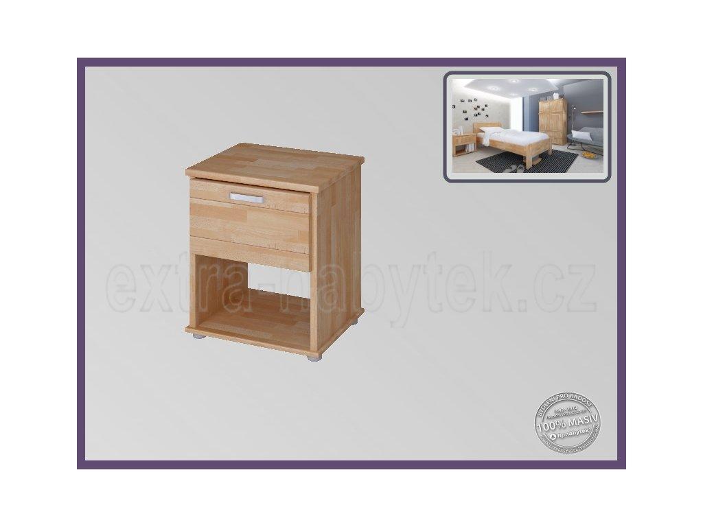 Noční stolek Sigma 192 BUK  Dřevěný stolek buk