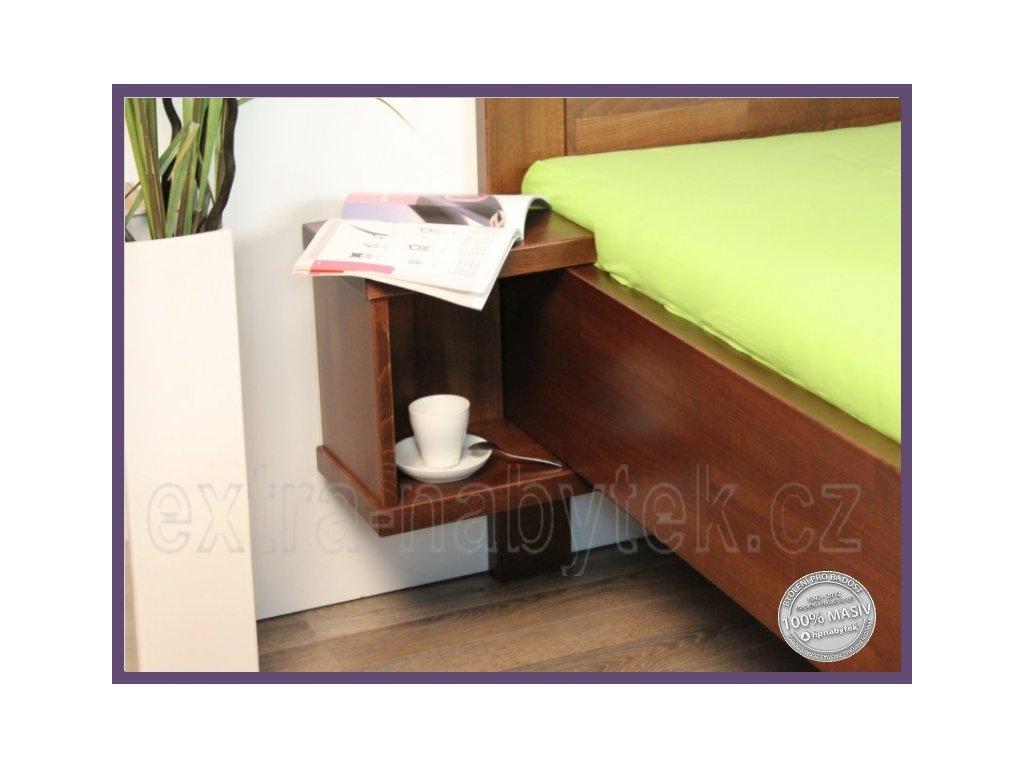 Noční stolek Supra 151 BUK  Závěsný dřevěný noční stolek