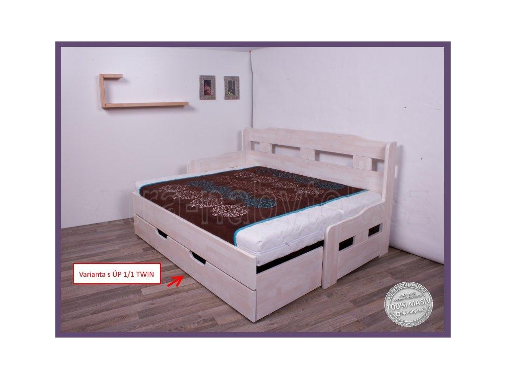Úložný prostor pod Twin  Úložný prostor celý pod postele TWIN