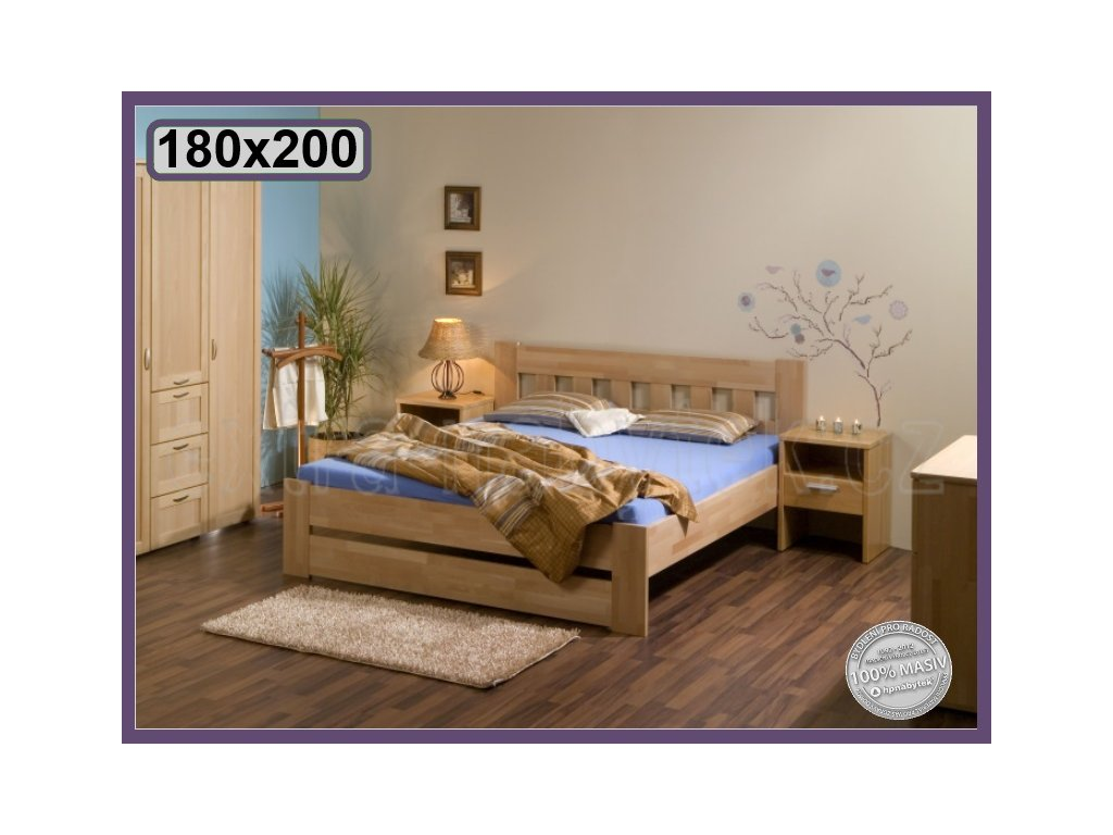 Postel Filip senior dvojlůžko 094 BUK  Dvojlůžkové postele senior
