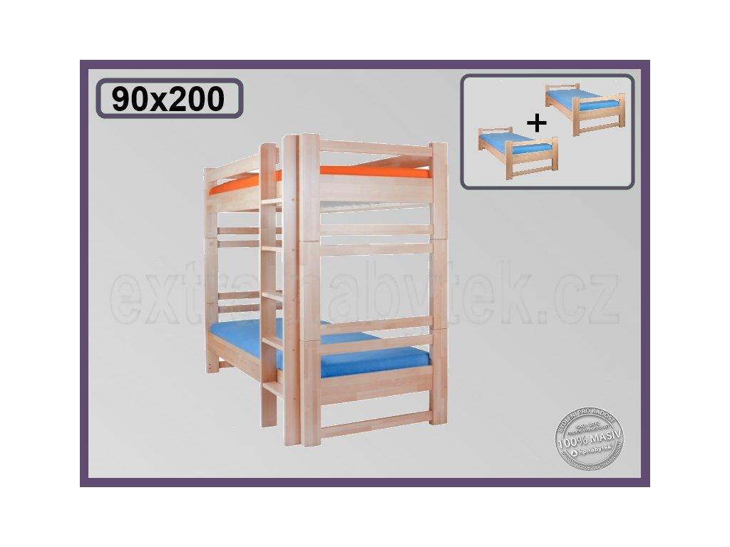 Lucas rozkládací 103 BUK  Kvalitní patrová postel