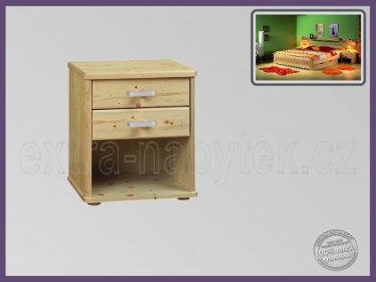 Noční stolek Robin 059 SMRK  Stolek do ložnice