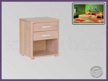 Noční stolek Robin 059 BUK  Stolek s dvěma zásuvkami