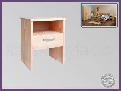 Noční stolek Erik 095 BUK  Vysoký noční stolek