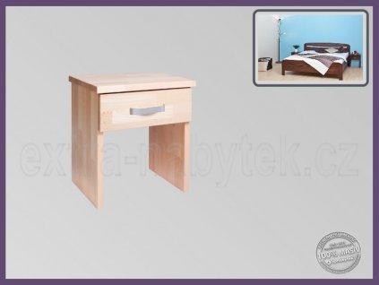 Noční stolek Alex 099 BUK  Dřevěný nízký noční stolek