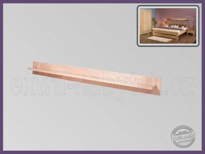 Police Fanny 118 BUK  Dřevěná police nad postel
