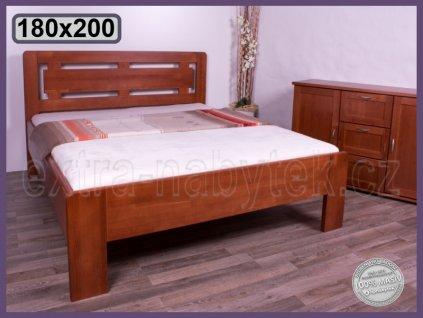 Postel Naomi supra -Oblá 143 BUK  Masivní postel ze dřeva