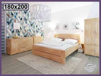Postel Fiona supra 160 BUK  Kvalitní postel ze dřeva